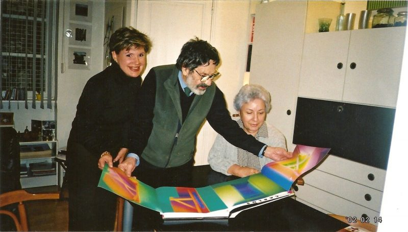 Master Carlos Cruz Diez, with wife Mirta and Ms. Huerta.