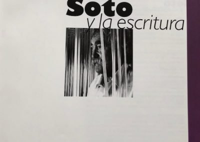 "Image of the book ""Soto y la Escritura"""