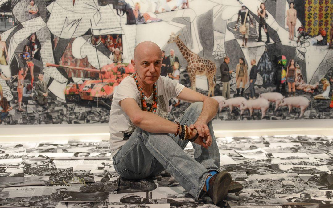 Lluis Barba arrives at Barcelona Gallery Weekend 2020